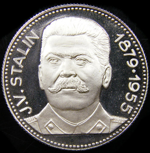 SILVER PROOF MEDAL J OSEPH STALIN  RUSSIA CO 735