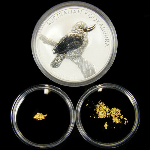 AUST TREASURE 2010 SILVER COIN GOLD NUGGET SERIES ATGS 5/200