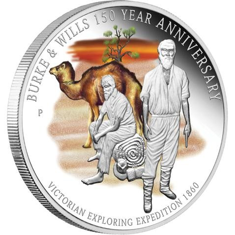 Burke & Wills 150 Year Anniversary 1oz Silver Proof Coin