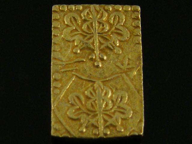 MEIJI DYNASTY NIBUKIN  GOLD COIN 1868-1869     JCC 65