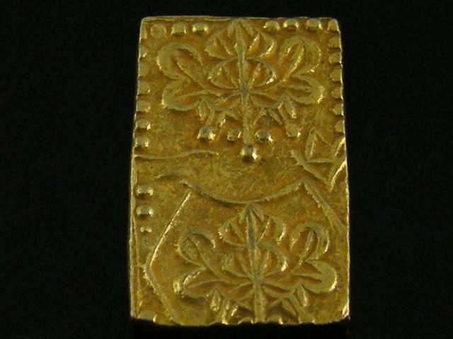 MEIJI DYNASTY NIBUKIN  GOLD COIN 1868-1869     JCC 69