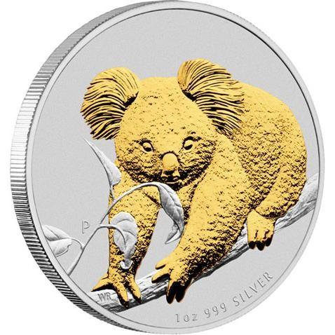 2010 Australian Koala Silver Coin Series 1oz Gilded Edition