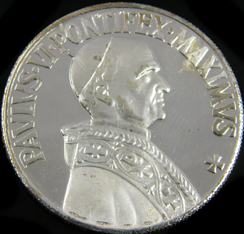 SILVER PROOF MEDAL PAVLVS.VI.PONTIFEX.MAXIMUVS CO 760