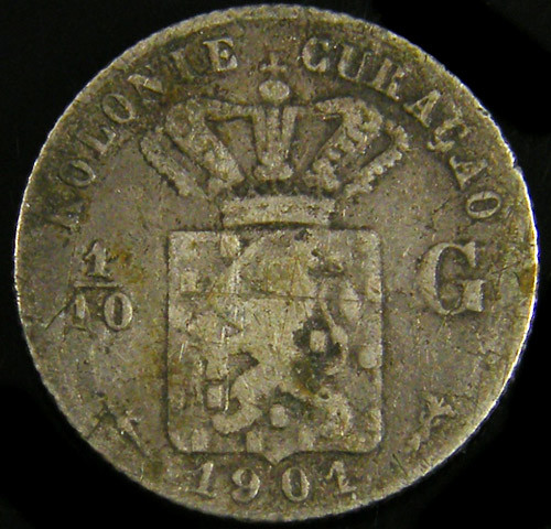 DUTCH CURACO 1901   1/10 G   CO 772