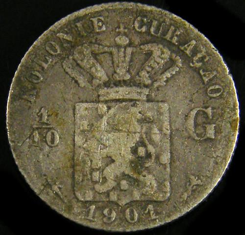 DUTCH CURACO 1901   1/10 G   CO 772