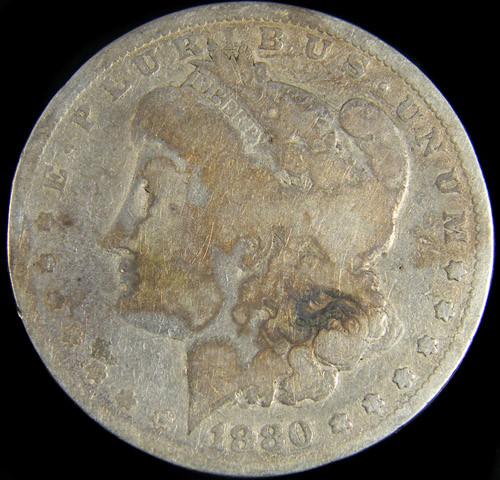 1880 MORGAN DOLLAR SILVER COIN   CO 777