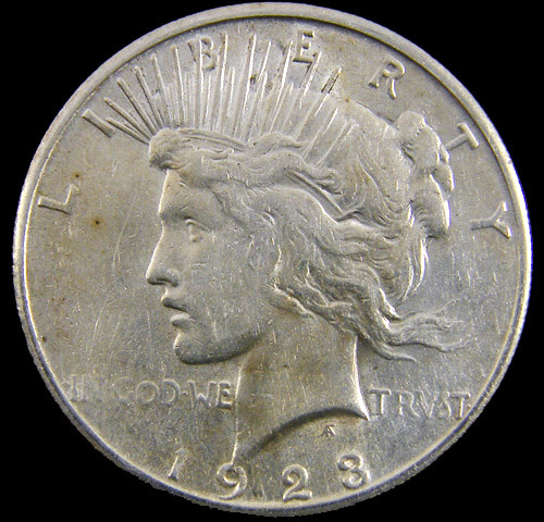 1923   Peace Silver dollar coin .900 Fine Silver CO 811