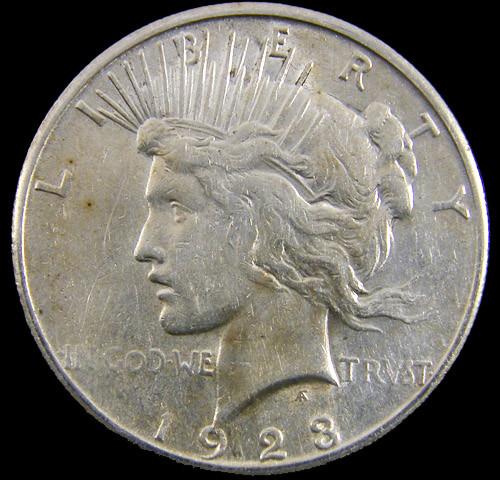 1923   Peace Silver dollar coin .900 Fine Silver CO 811