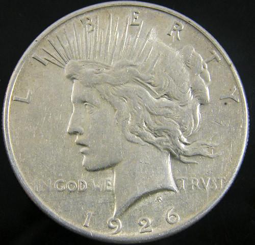 1926   PEACE DOLLAR SILVER COIN   CO 812