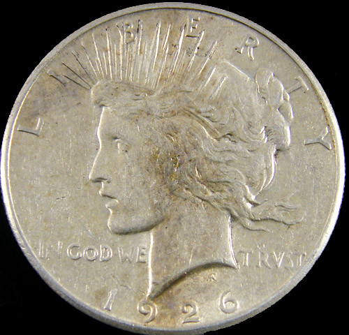 1926  M PEACE DOLLAR SILVER COIN   CO 815
