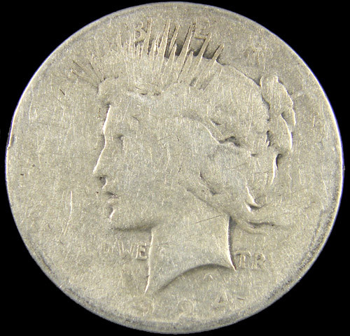 1924  PEACE DOLLAR SILVER COIN   CO 817