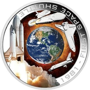 1981 First Space Shuttle 1oz Silver Orbital Coin