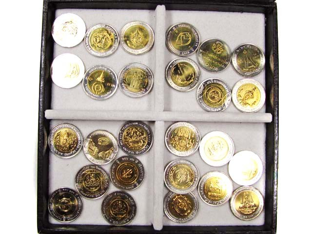 COLLECTION 26 UNC BI METAL THAILAND COINS  1990-2009 J 781