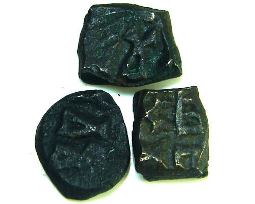 IMAGHAS BHIMAVARMA 200 AD         THREE  COINS     OP 828