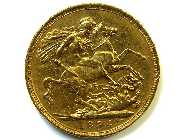 GOLD SOVERIGN  MELBOURNE MINT 1894 HIGH GRADE COIN CO7