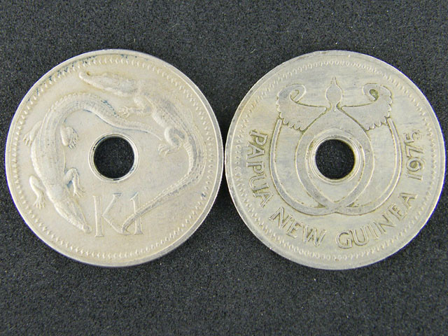 TWO PAPUA NEW GUINEA   COINS   1 K                OP927