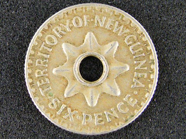 PAPUA NEW GUINEA  THREE PENCE  1943             OP937