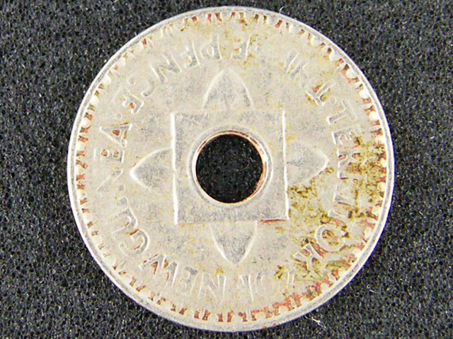 PAPUA NEW GUINEA  THREE PENCE  1944              OP938