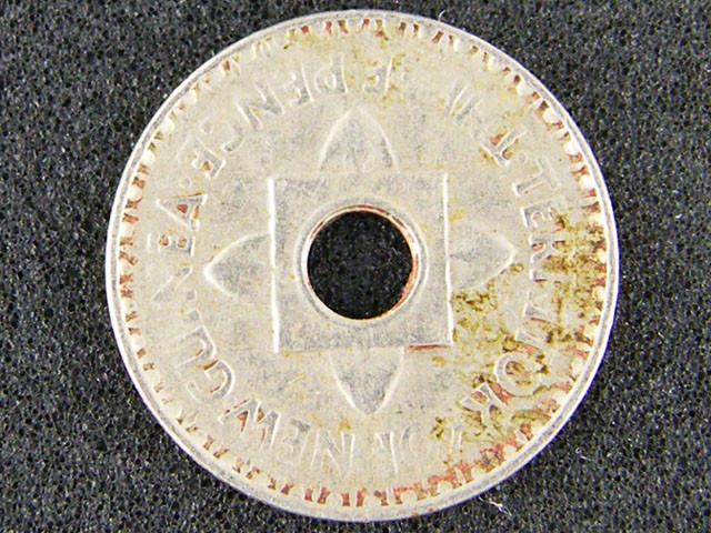 PAPUA NEW GUINEA  THREE PENCE  1944              OP938