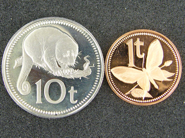 UNC  PAPUA NEW GUINEA   1978 10T AND 1T COINS      OP948
