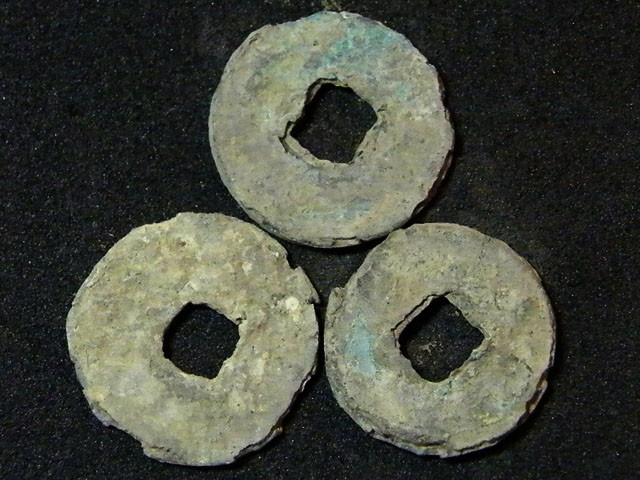 3 CHINESE SHIPWRECK COINS OVER 800 YEARS OLD   OP 969