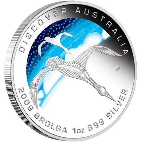 Discover Australia 2009 Dreaming – Brolga 1oz Silver Coin