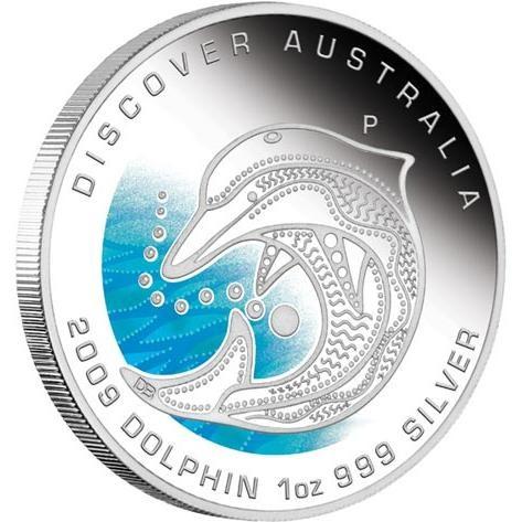 Discover Australia 2009 Dreaming – Dolphin 1oz Silver Coin