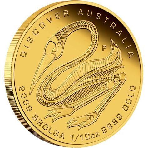 Discover Australia 2009 Dreaming – Brolga 1/10 oz