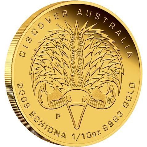 Discover Australia 2009 Dreaming  Echidna 1/10oz