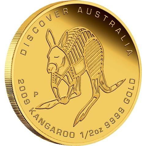 "Discover Australia 2009 Dreaming "" Kangaroo 1/2oz,Gold coin"