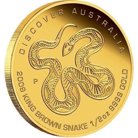 Discover Australia 2009 Dreaming–King Brown Snake 1/2oz