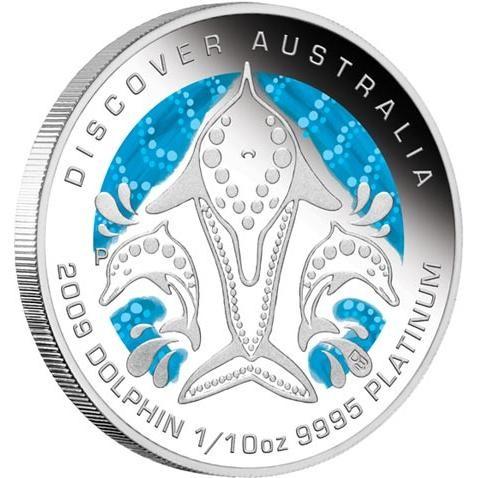 Discover Australia 2009 Dreaming  Dolphin 1/10oz PLATINUM