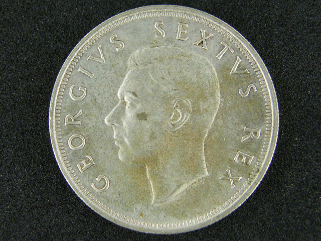 SOUTH AFRICA  1952  5 SHILLINGS  OP 1004