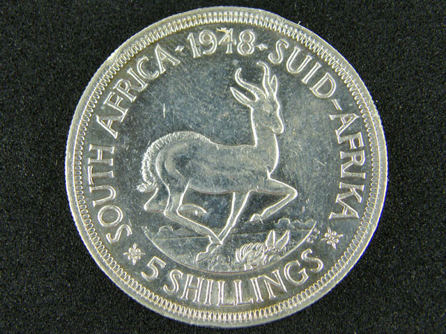SOUTH AFRICA  1948     5 SHILLINGS  OP 1006