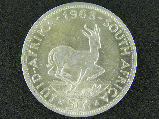 SOUTH AFRICA  1965   5 SHILLINGS  OP 1008