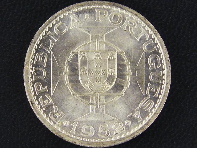 UNC MACAO SILVER COIN   5 PATACA 1952     OP917