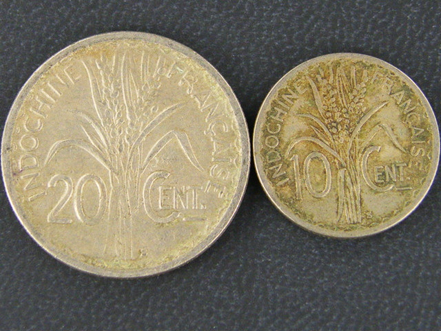 INDO CHINA 2 COINS MADE SAN FRANSICO 1941    OP934
