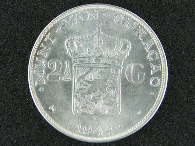 UNC CURACAO   1944  21/2  G OP 947