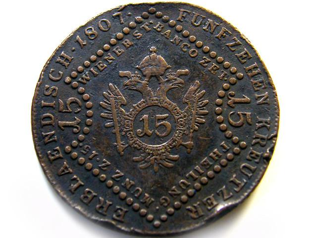 AUSTRIAN SILVER COIN FROM 1807 OP 960