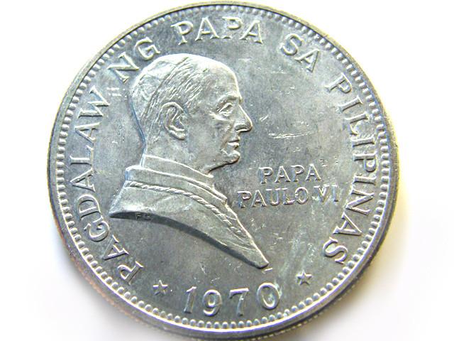 1970 UNCIRULATED 5 PESOS  OP 973