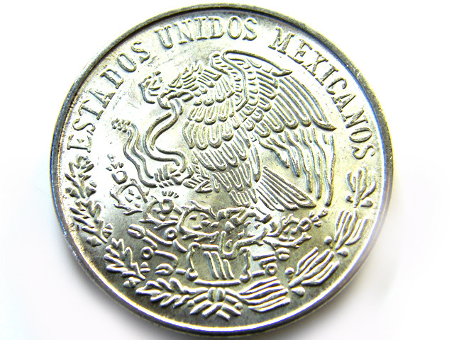 MEXICAN  PESO .720 SILVER COIN 1978  OP 977