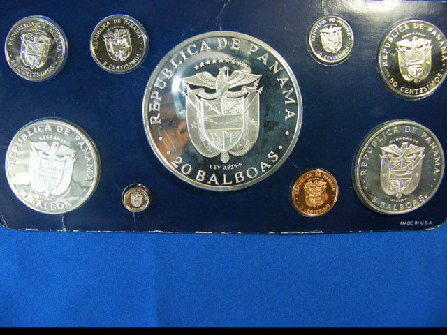 PANAMA 1976 FRANKLIN PROOF SET WITH 20 BALBOA  OP 985
