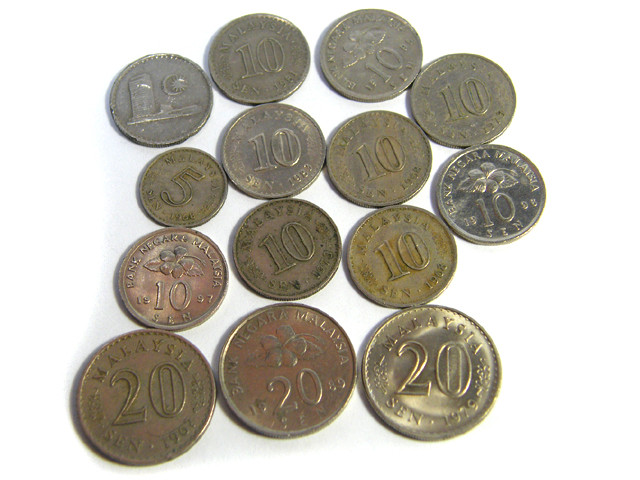 PARCEL MIXED COINS FROM MALAYSIA  J5