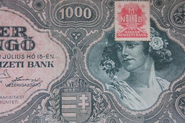 Hungary Ezer (1000) Pengő 1945 (MNB stamp)