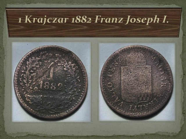 Hungary 1 Krajczar-Franz Joseph I. 1882 KM#458