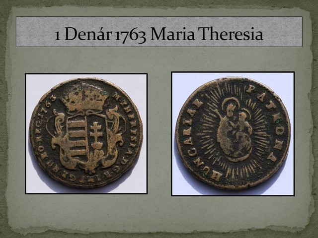 Hungary 1 Denár-Maria Theresia 1763 KM#375
