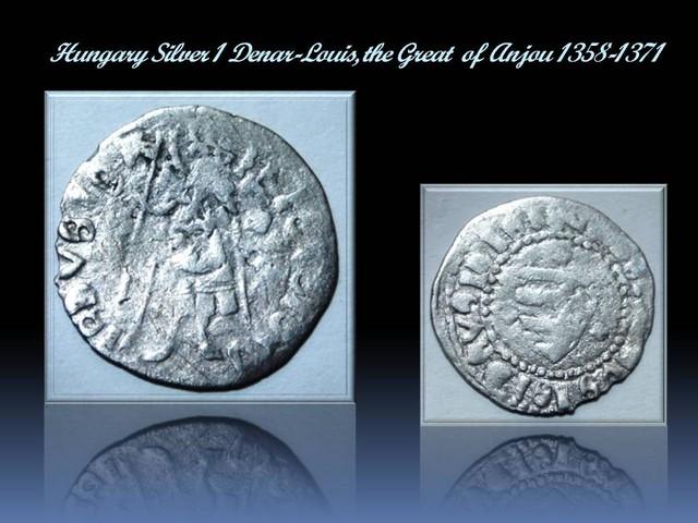 Hungary Silver 1 Denar-Louis,the Great of Anjou EH#429