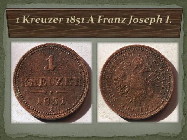 Austria 1 Kreuzer-Franz Joseph I.. 1851 A KM#2185