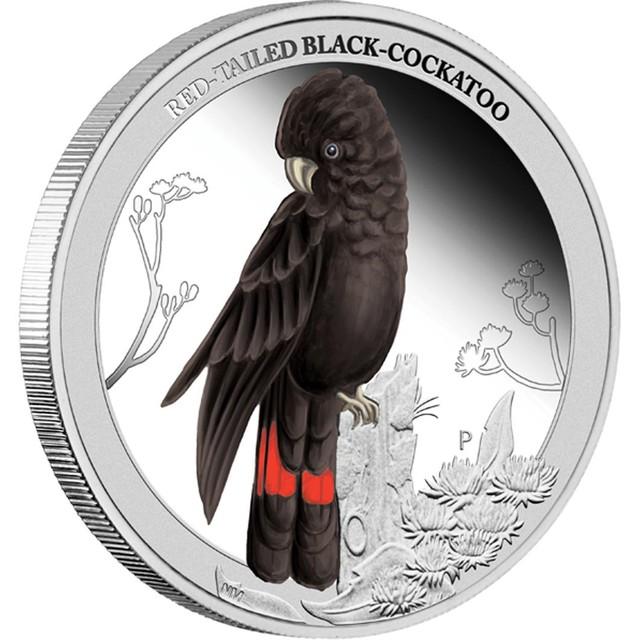 Birds of Australia . Red-tailed Black-Cockatoo 2013 1/2oz s