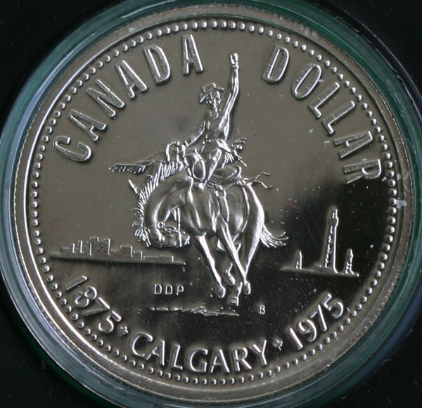 1975 Calgary Stampede .500 Silver coin